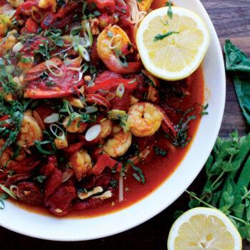 Seafood Pasta with Tomato Saffron Broth