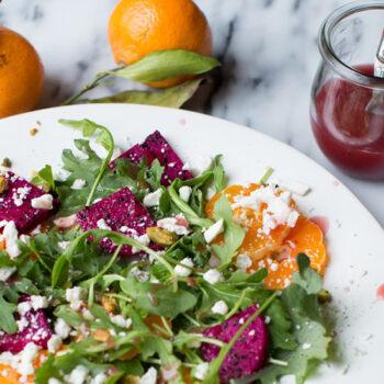 Satsuma Orange and Dragon Fruit Salad