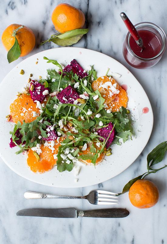 Tangerine and Dragon Fruit Salad