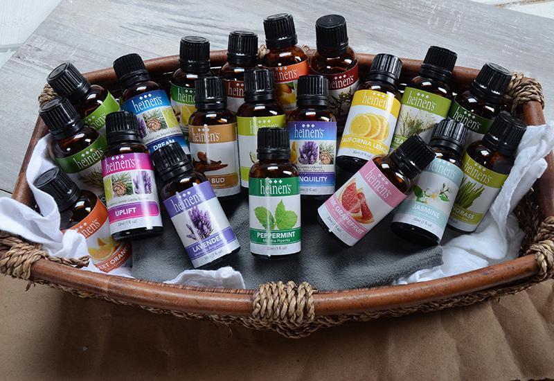 Heinen's Essential Oils in a Basket