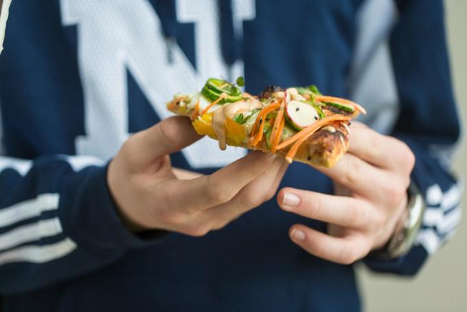 Banh Mi Pizza Slice