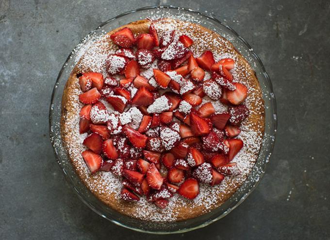 Strawberry Almond Cake