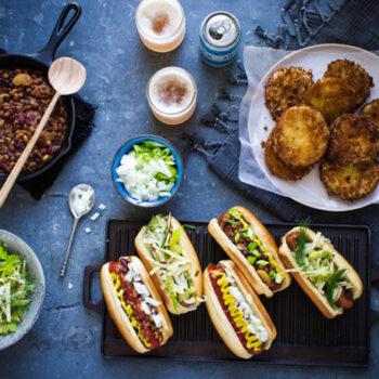 Hotdog Meal Overhead
