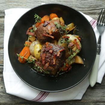 Beer Braised Pot Roast with Root Vegetables