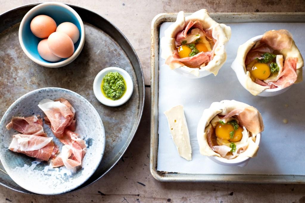 Baked Eggs Preparation