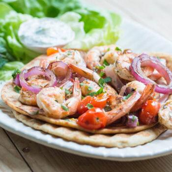 Shrimp Souvlaki Feature
