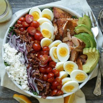 Salmon Cobb Salad with Lemon Vinaigrette