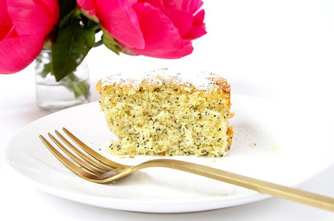 Slice of Poppyseed Cake