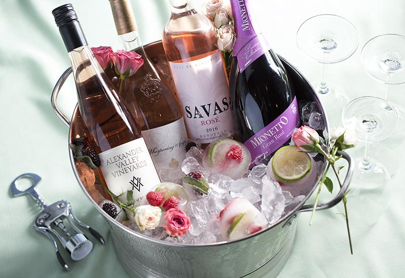 Rose Wines in Ice Bucket