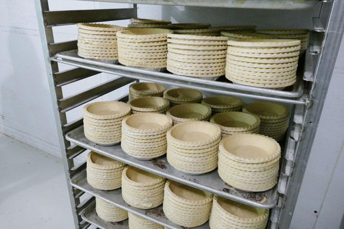 Mama Jo Pie Crusts on a Rack