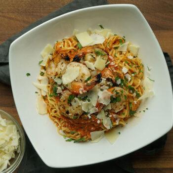 Spicy Grilled Shrimp Pasta