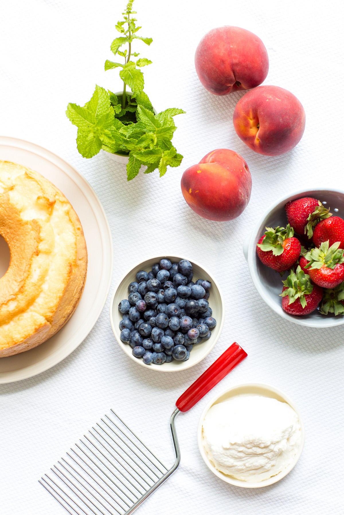 Angel Food Cake Parfait Ingredients