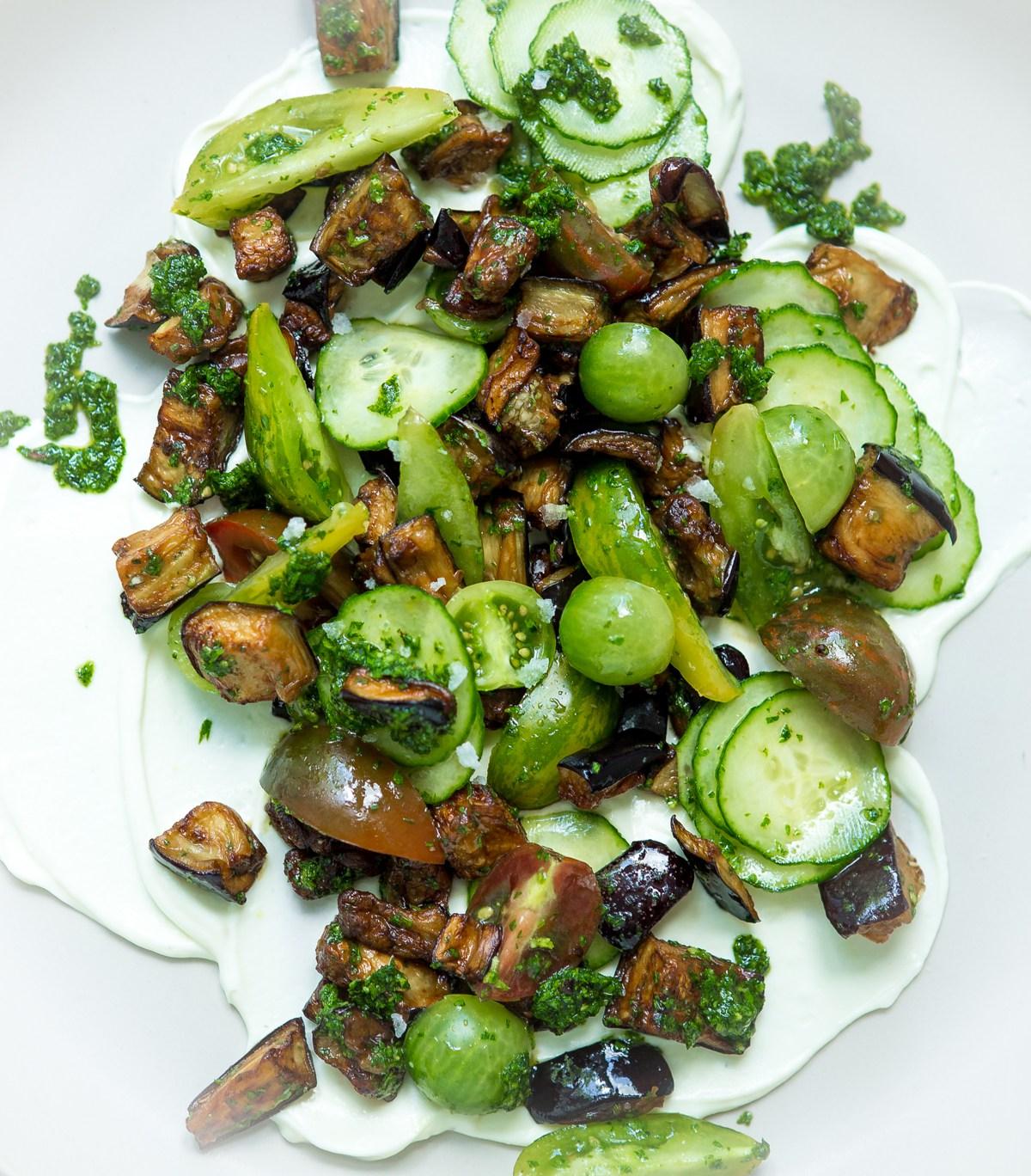 Heinen's Fried Eggplant Salad