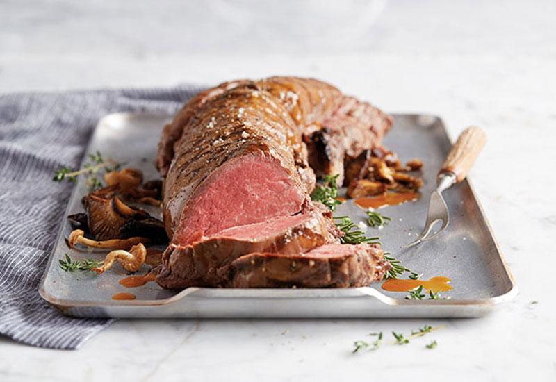Beef Tenderloin on a Serving Platter