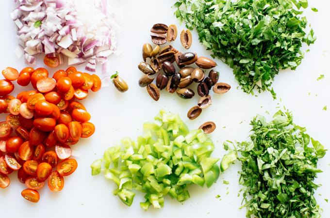 Mediterranean Salad Ingredients