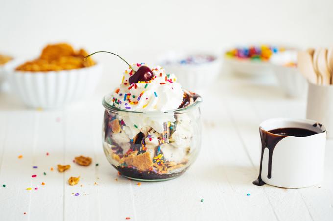 Ice Cream in Glass Jar