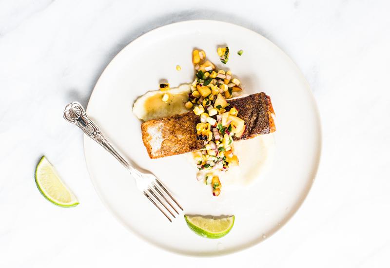 Salmon with a Fresh Corn Salsa