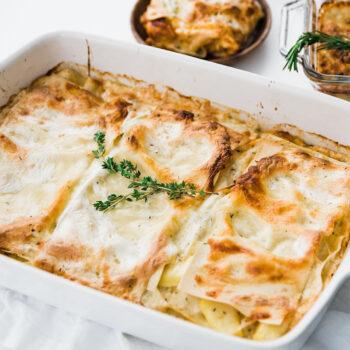 Lasagna with Béchamel Sauce and Winter Squash