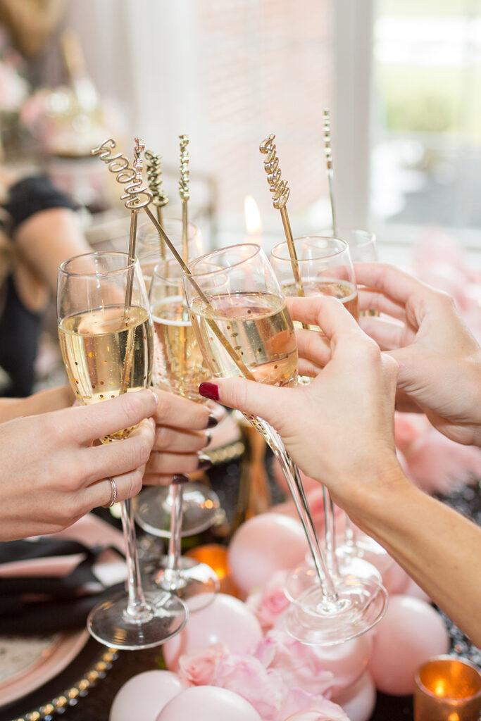 Champagne toast at NYE
