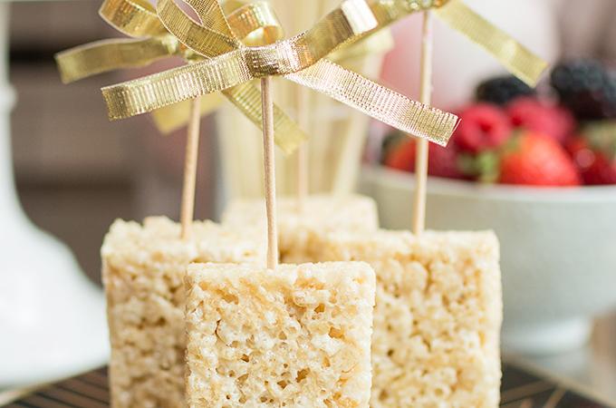 Rice crispy treats on a stick
