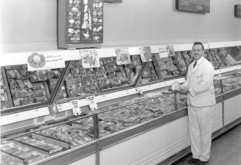 Joe Heinen in the Meat department