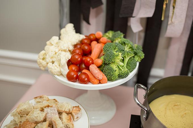 Veggies for fondue dipping