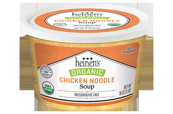Heinen's organic chicken noodle soup