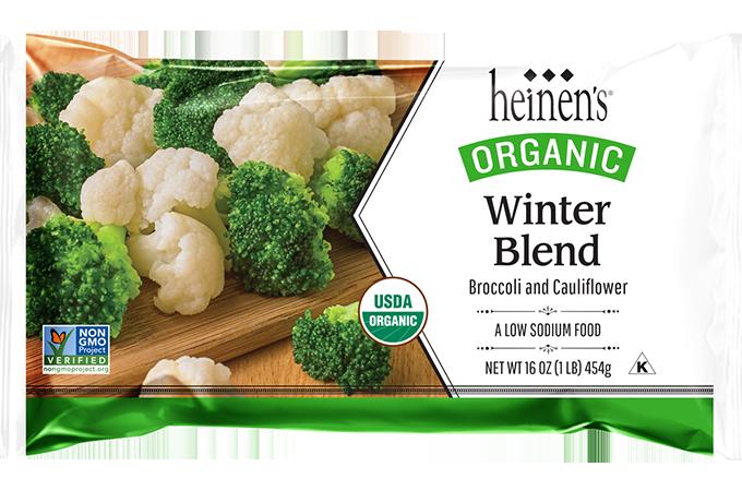 Heinen's organic winter veggie blend package