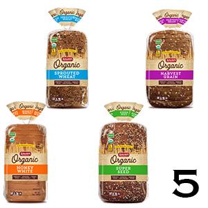 Schewbels Organic Bread varieties