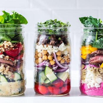 Spring Mason Jar Salads