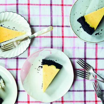 Sweet Tart Cara Cara Cheesecakes on Plates