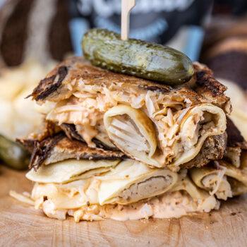 Pierogi Reuben Sandwich
