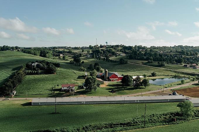 Gerber's Amish Farm Bird's Eye View