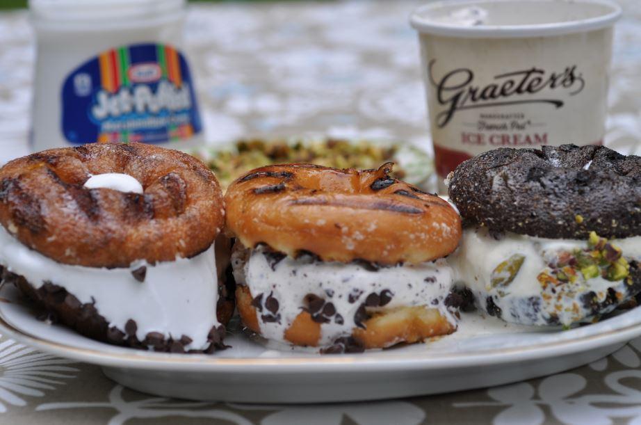 Donut Ice Cream Sandwiches