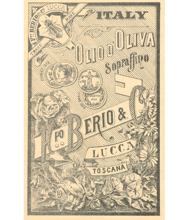 Filippo Berio Olive Oil Lithograph from 1850
