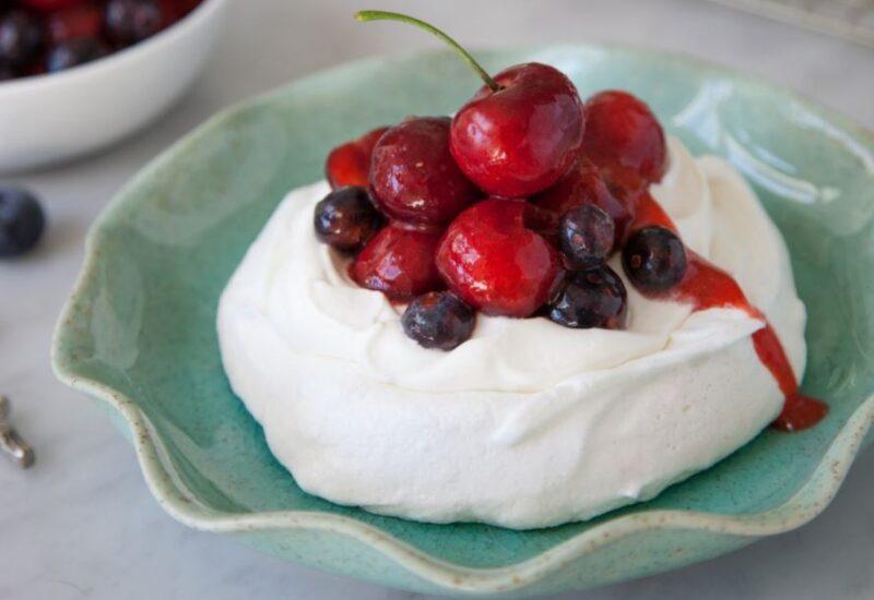 Cherry Berry Meringues