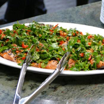 Sesame Crusted Salmon with Charmoula