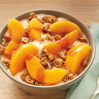 Peaches and Cream Yogurt