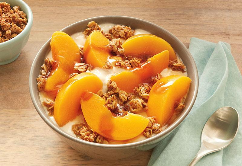 Honeyed Peach Yogurt