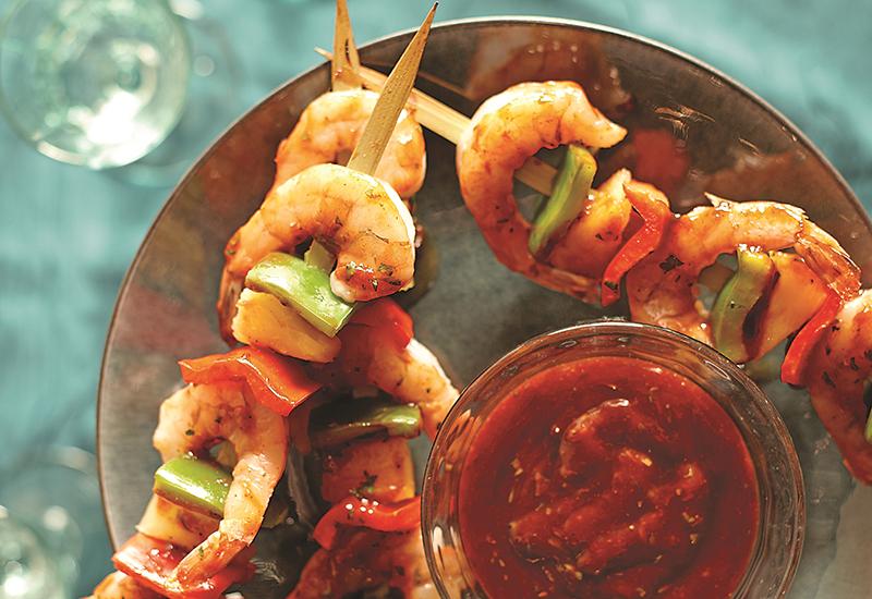 Caribbean Shrimp Skewers