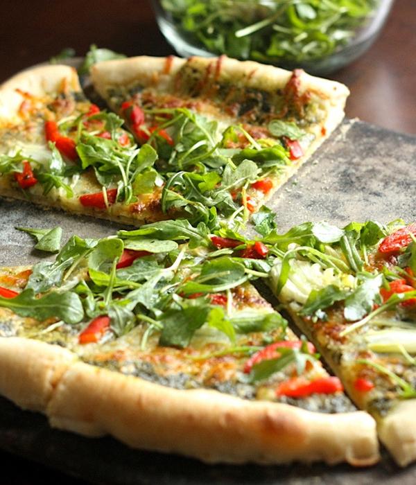Vegetarian Pesto Pizz