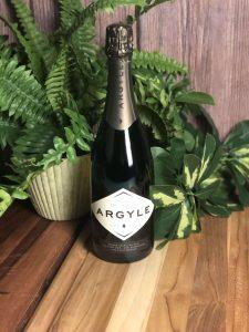 Argyle Brut wine bottle