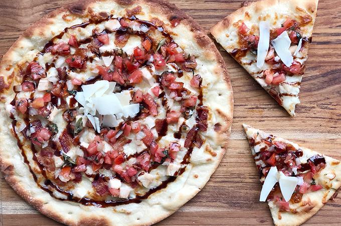 Bacon Chicken Bruschetta Pizza