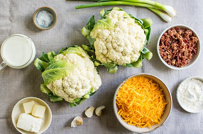 Cheesy Cauliflower Baker Ingredients