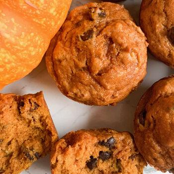 Pumpkin Dark Chocolate Pecan Muffins