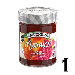 Smuckers Mosaics - Peach Raspberry Fruit Spread