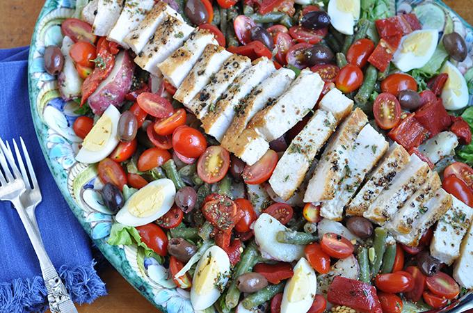 Swordfish Salad on Plate