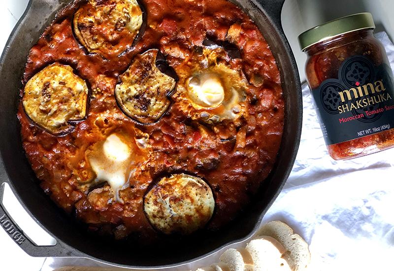 Eggplant and Eggs in Purgatory