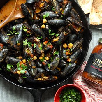 Mussels with Mina Shakshuka