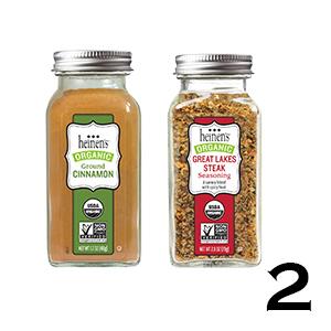 Heinen's Spices/Seasonings - Ground Cinnamon and Great Lakes Steak Seasoning